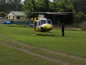 Girl airlifted