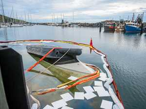 Lucky escape for crew of sinking yacht