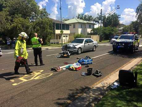 The 89-year-old woman died after she was hit by a Mercedes at Tewantin on Thursday.