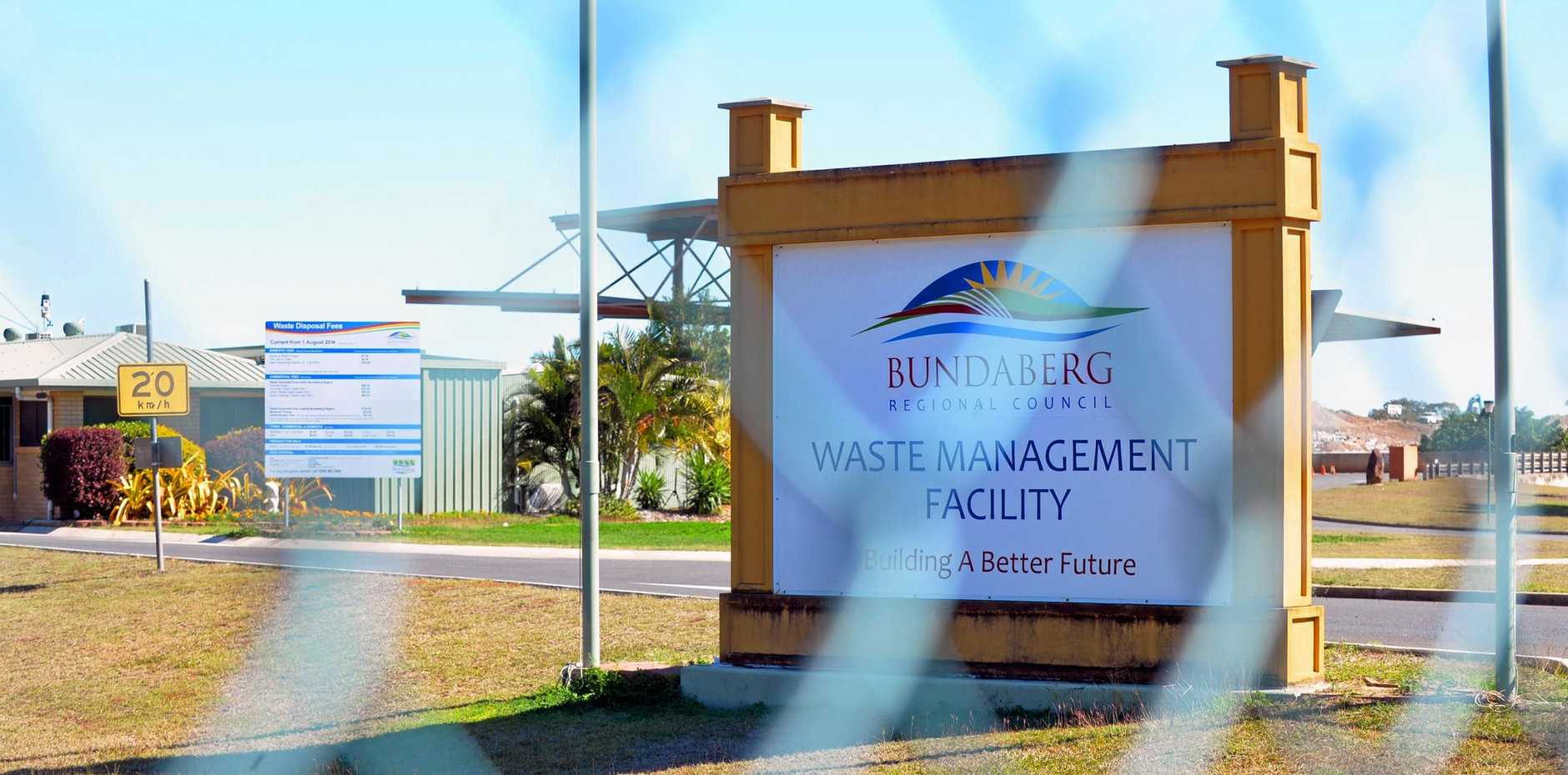 COMPOST DANGER: A local resident expresses concern after hearing the mulch he purchased from the Bundaberg Regional Council Waste Management Facility may contain asbestos.  Photo: Zach Hogg / NewsMail