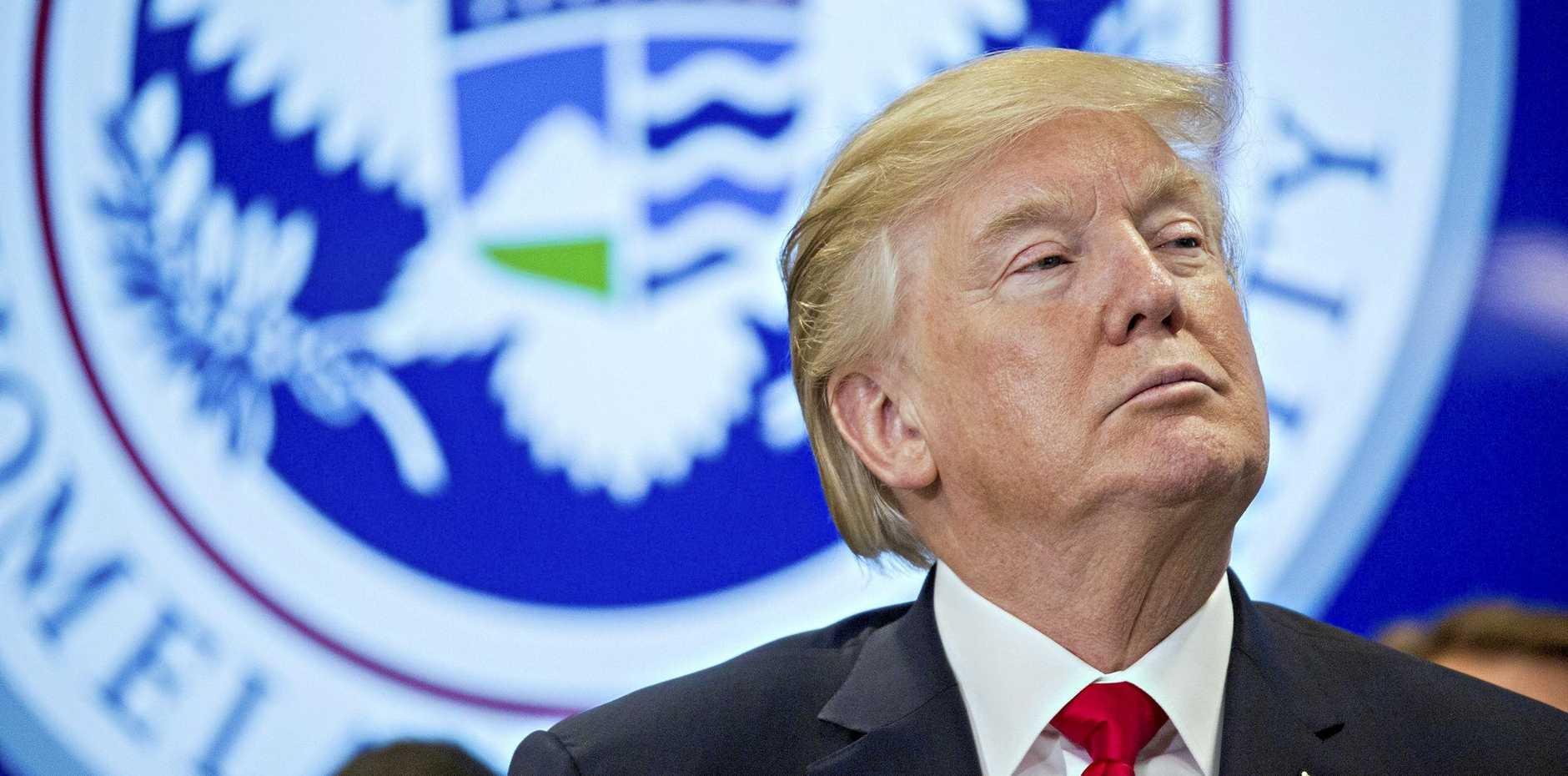 APPALLING OURBURST: US President Donald J. Trump.