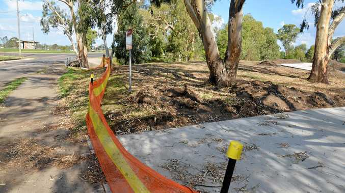ON TRACK: The Condamine River footpath and cycleway extension near the weir bridge, which is almost finished.