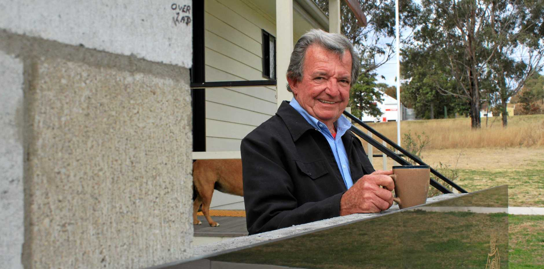 CRANKY CAMPERS: Leyburn RSL president Gary Sprott is pushing the council to reverse its decision to cut free stays at the local camp site.