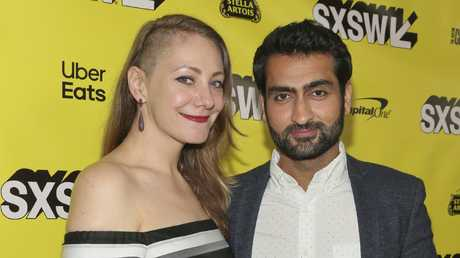 Kumail Nanjiani and Emily V. Gordon was Oscar-nominated for their first screenplay, The Big Sick (Photo by Jack Plunkett/Invision/AP)