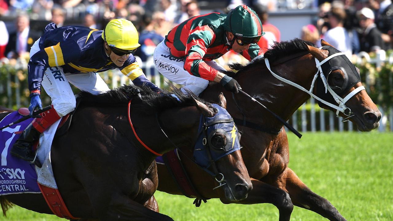 The Autumn Sun (right) has won five Group 1 races in nine starts. Picture: AAP