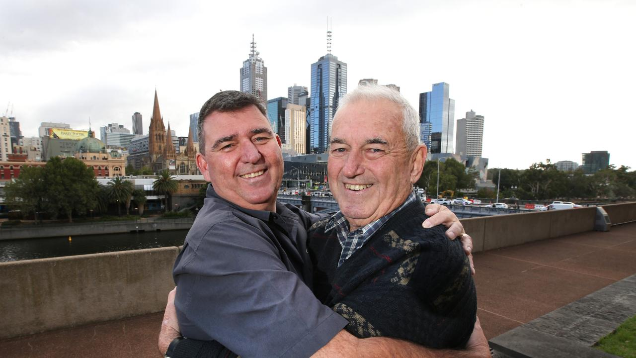 DNA tests by Peter's sister and niece through Ancestry revealed the pair are father and son. Picture: David Caird