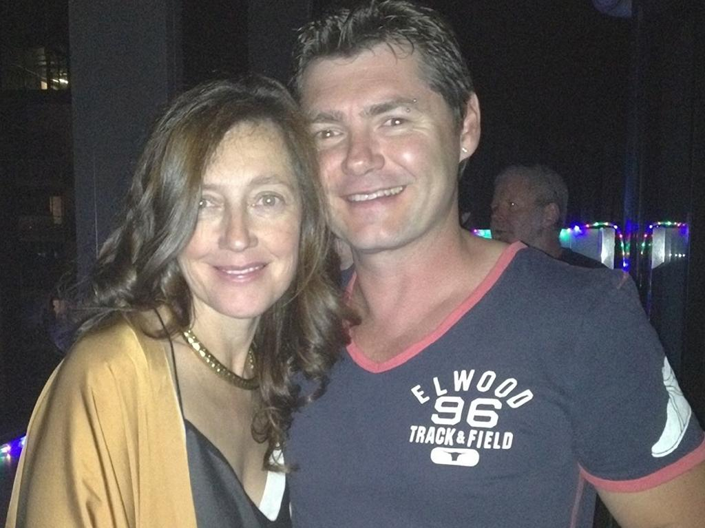 Karen Ristevski and her brother Stephen Williams who doesn't rate a mention on her tombstone that was bought by her husband and killer Borce Ristevski.