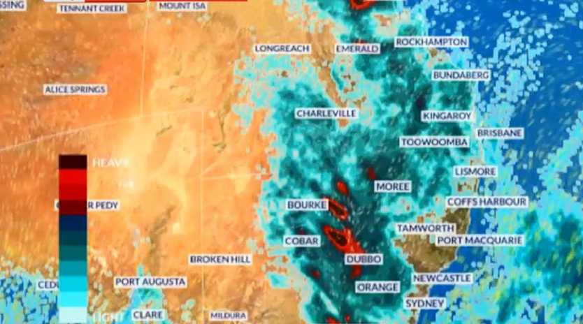 Rain is spreading across Queensland and NSW this week. Picture: Sky News Weather