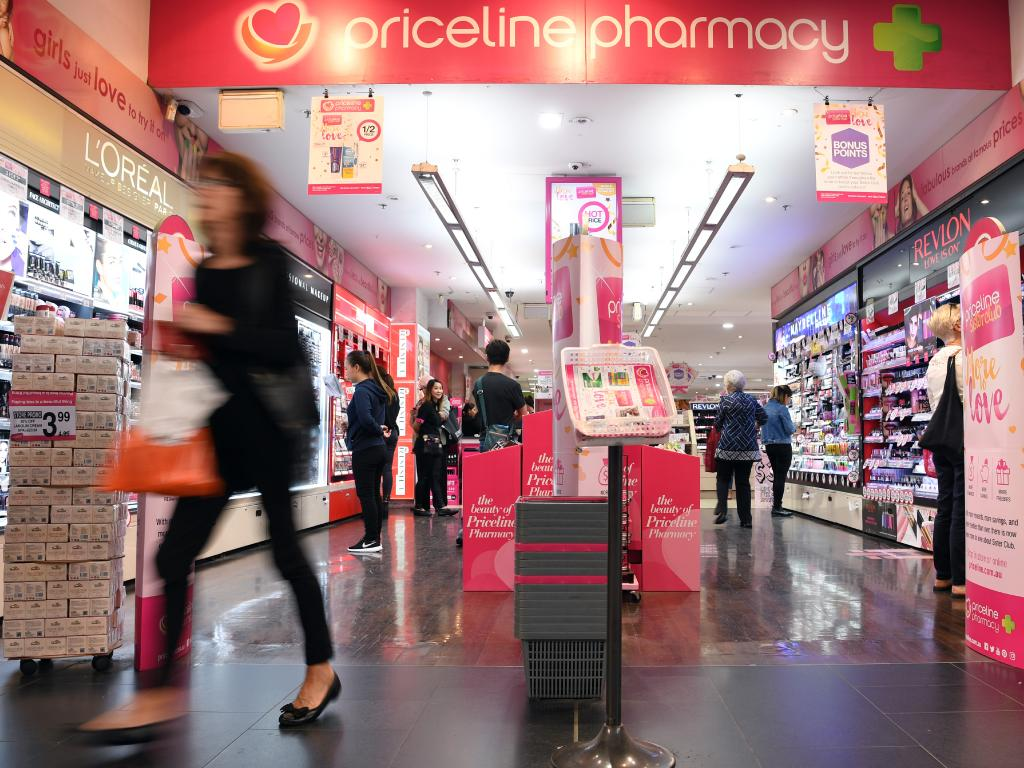 Priceline has launched a major sale, offering 50 per cent off cosmetics in store and online. Picture: AAP Image/Paul Miller
