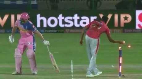 Ravi Ashwin left Jos Buttler furious after a 'Mankad' run out during the IPL.