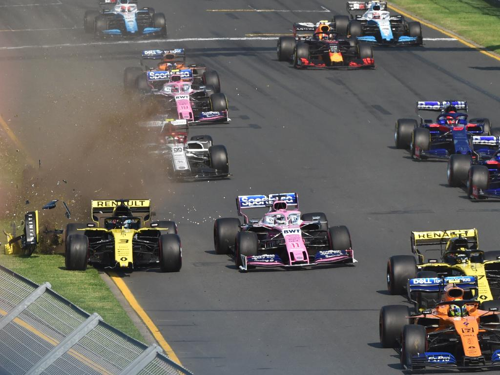 Ricciardo's race started in the worst possible fashion.