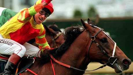 Redoute's Choice won four Group 1s during his racing career, including the 1999 Caulfield Guineas.