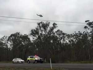 RACQ LifeFlight chopper searches on Ring Rd