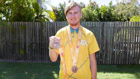 Wondunna athlete Brady Rose, 19, has returned from the Special Olympics World Games in Abu Dhabi with Australia's first (bronze) medal in the pentathlon and a third in the Division 8 4x100m relay.