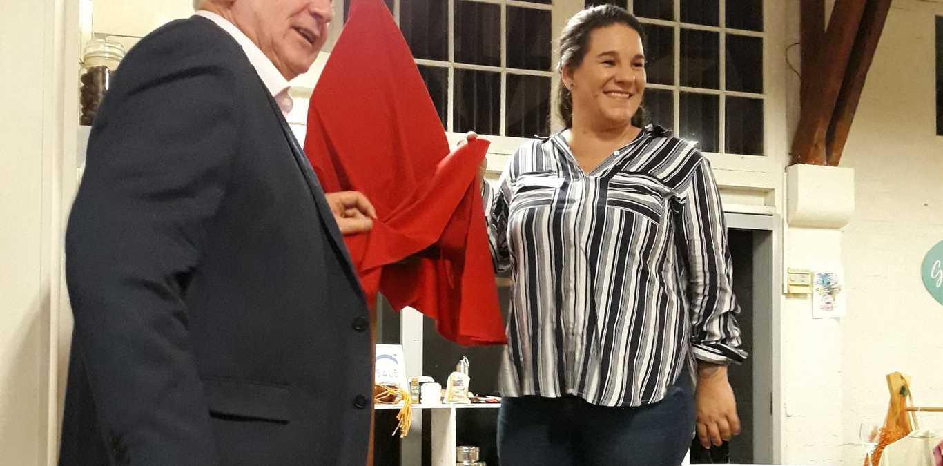CELEBRATION: Emerge Cafe founder Jen Shaw celebrates the official opening of the venue with Toowoomba Mayor Paul Antonio.