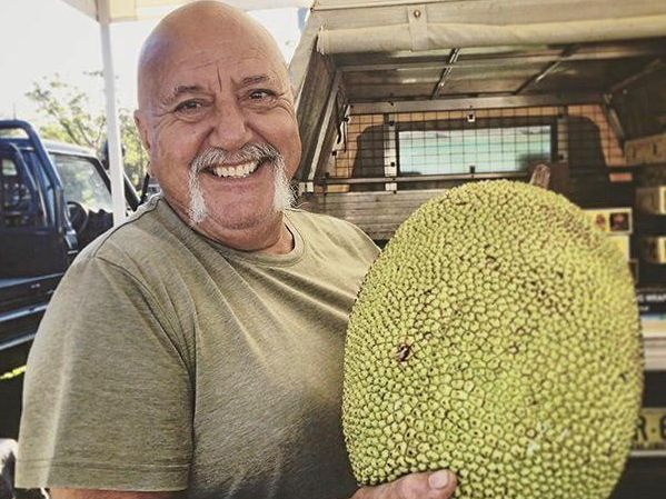 MARKETS: John Picone of Picone Exotics with his home- grown jackfruit.