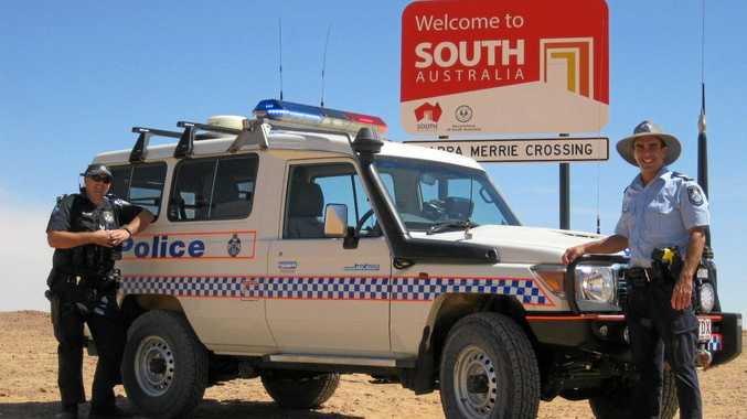 ARE WE THERE YET: Senior Constable Andrew White and Sergeant Vaughan Collins patrolling the vast expanse of the Bulloo Shire, along the South Australian border.