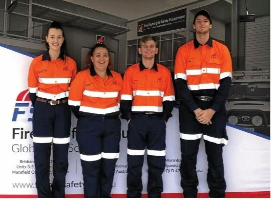 NEW CREW: Fire and Safety Industries new trainees Alyssa Mawson, Jacklin Shepherd, Rhys Cox and Caleb Lewis.