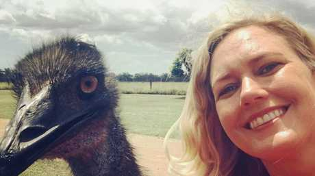 Rockhampton born author Anna Daniels visited the McArthur family with her Studio 10 crew to film Fred the emu.