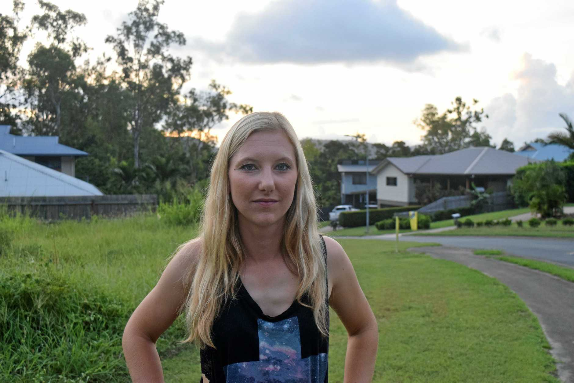 WILD WELCOME: Sarah Brinkmann arrived in Airlie Beach just days before Cyclone Debbie struck.
