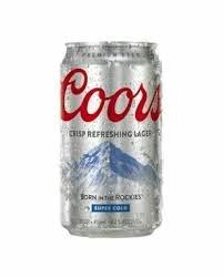 Coors Crisp Refreshing lager.