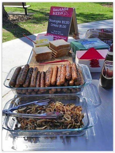 The party would not have been complete without the signature Bunnings sausage sizzle.