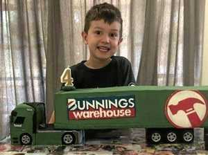 Bunnings birthday dream comes true for lucky 4yo boy
