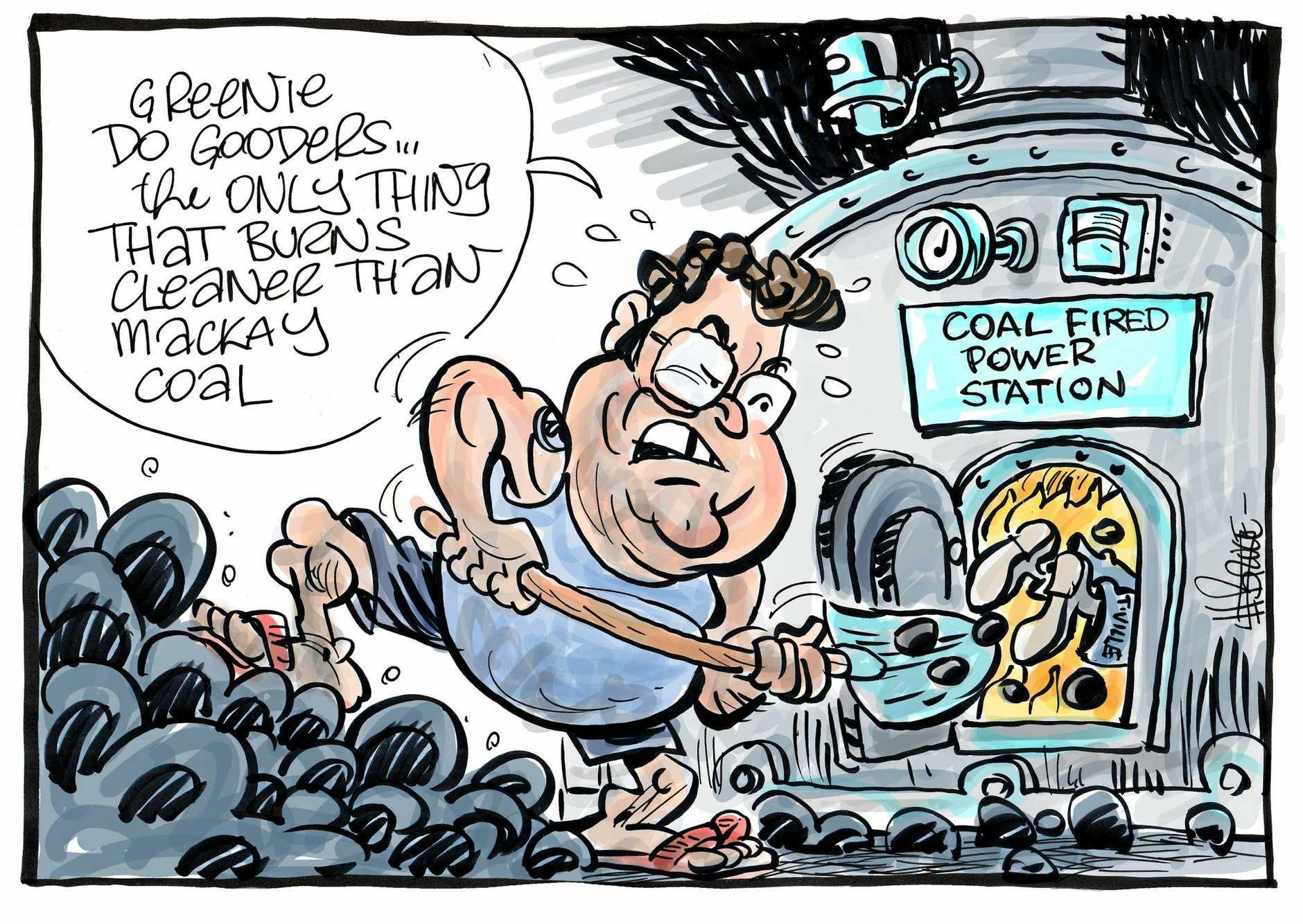 Harry Bruce cartoon coal-fired power station