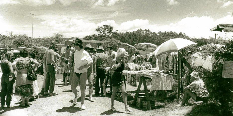 STARTING OUT: The Eumundi markets backin 1979 was a very humble, yet quirky affair.