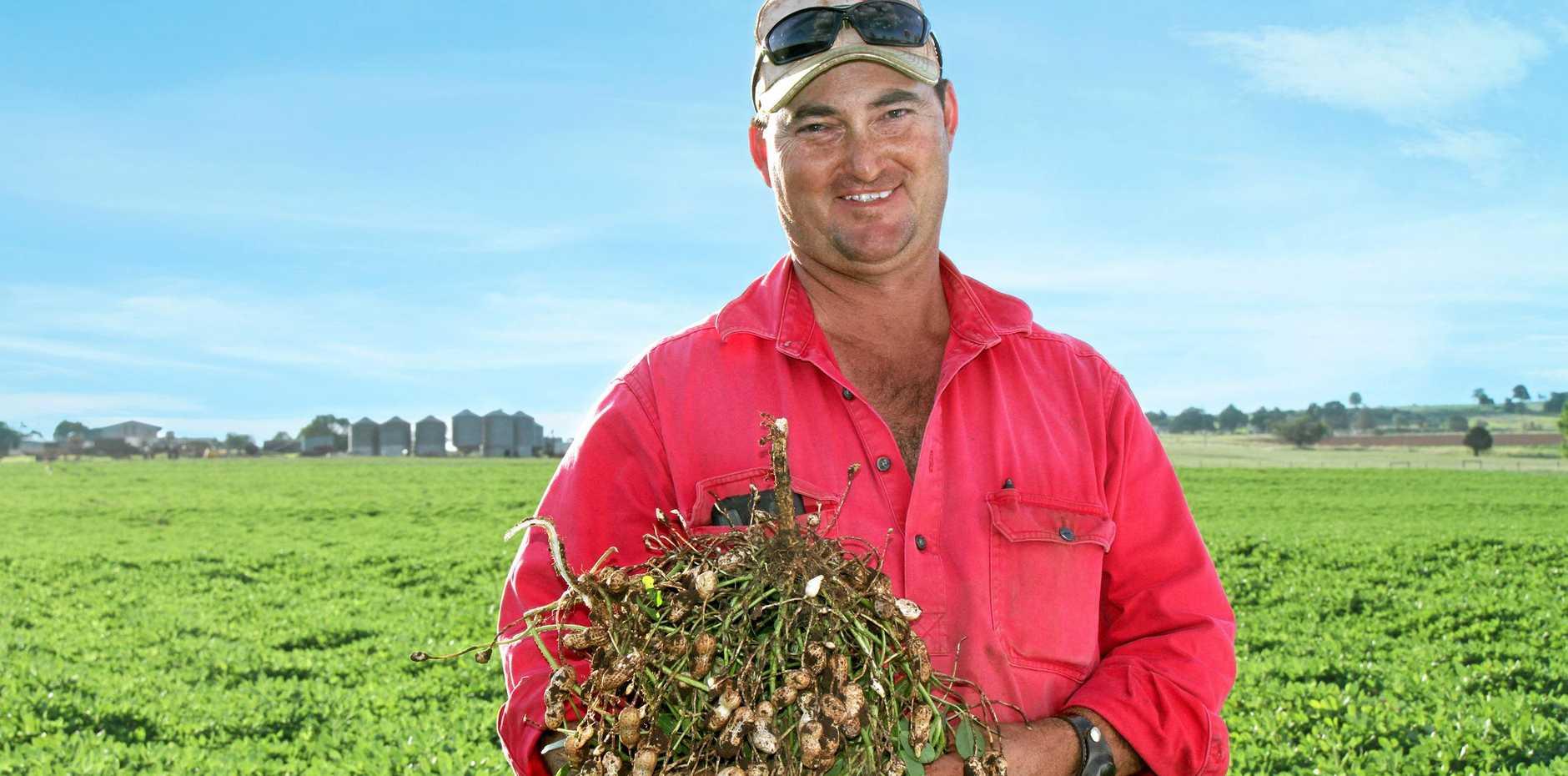 LOCALS BENEFIT: South Burnett farmer Peter Howlett is one farmer to benefit from Bega's new peanut butter.
