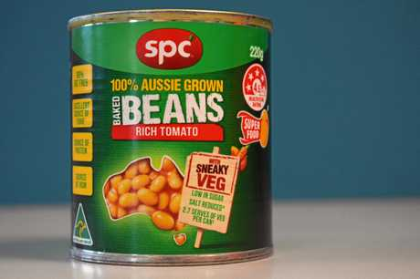 SPC baked beans and spaghetti is made in Shepparton, Victoria.