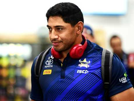 Jason Taumalolo. North Queensland Cowboys return from Brisbane after their loss to the Broncos. Picture: Alix Sweeney