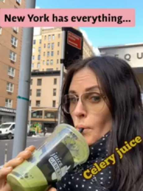 Courteney Cox drinks celery juice as well. Picture: Instagram