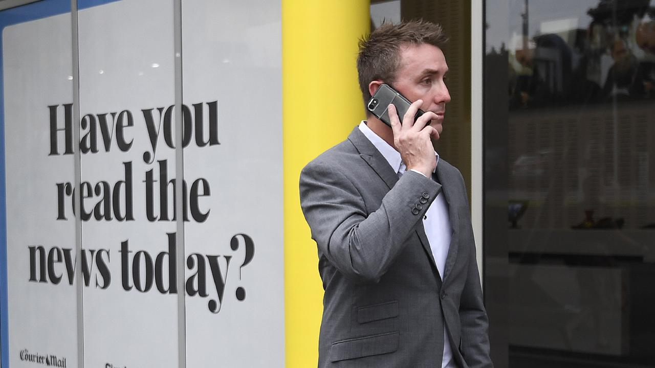 One Nation party official James Ashby walks from a press conference after being caught in an Al-Jazeera investigation. Picture: AAP Image/Dave Hunt