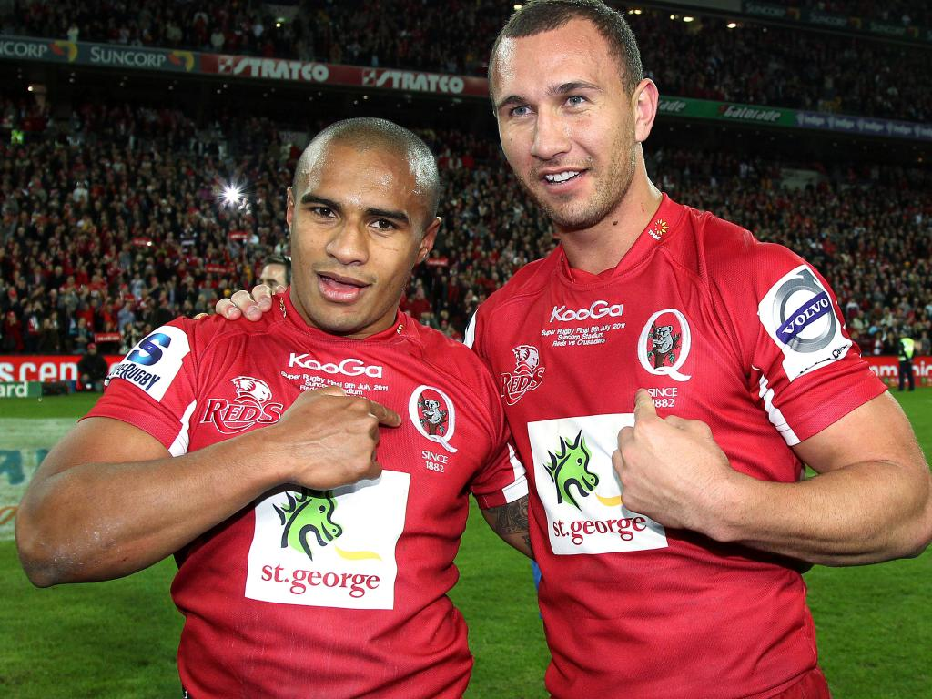 Will Genia and Quade Cooper during their time together at the Queensland Reds.