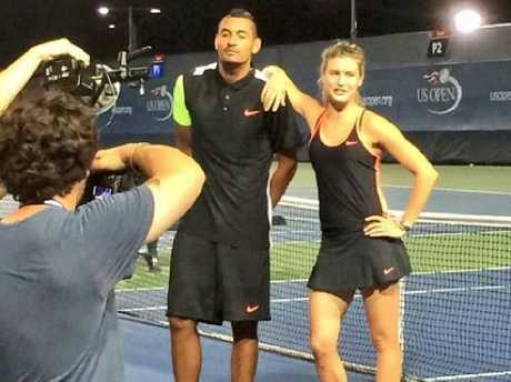 Eugenie Bouchard and Nick Kyrgios at the US Open.