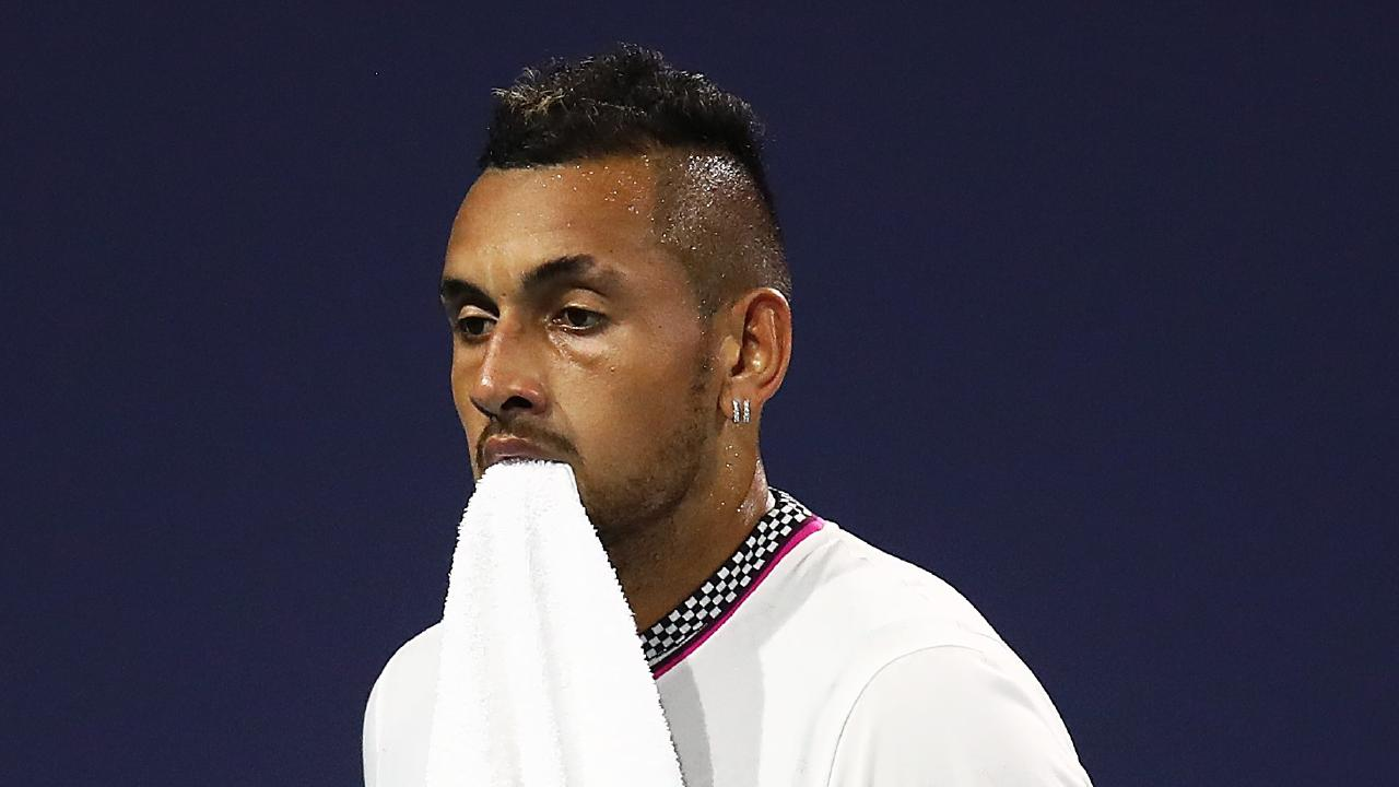 Nick Kyrgios hit one of the shots of the year. Picture: Julian Finney/Getty Images/AFP