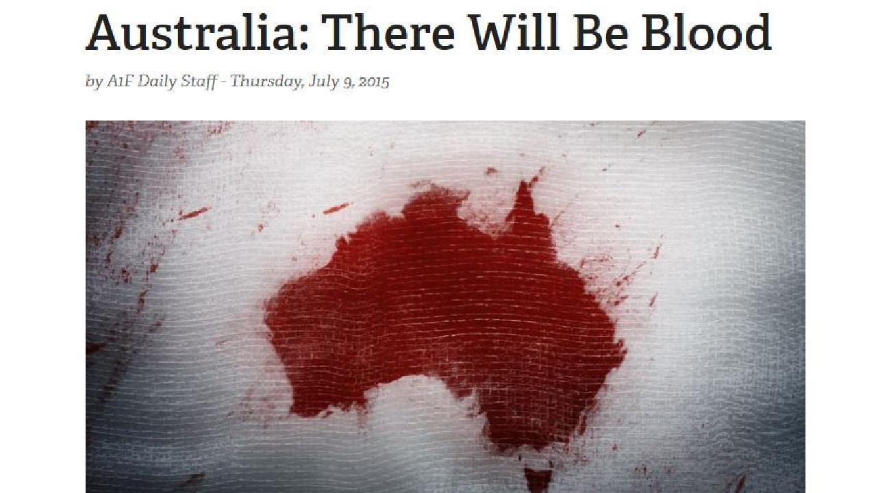Screenshot of an NRA article about Australia.
