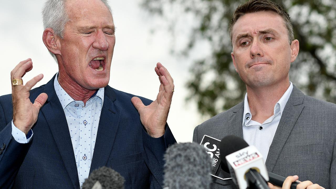 One Nation party officials Steve Dickson (left) and James Ashby. Picture: AAP