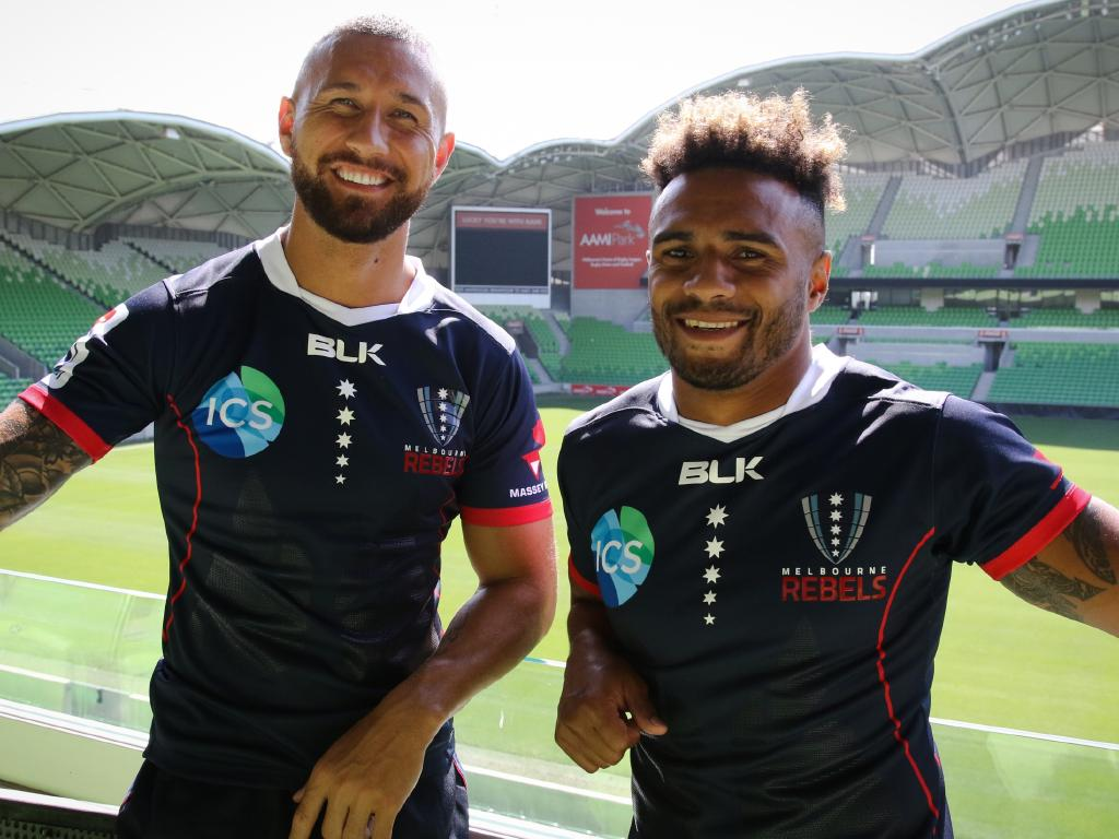 Rebels with a cause: Quade Cooper and Will Genia at their new Melbourne home.