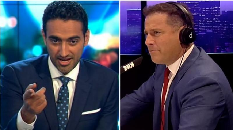 Facebook is profiting off scammers who are using photos Karl Stefanovic and Waleed Aly to promote a money grab scam. Source: Facebook