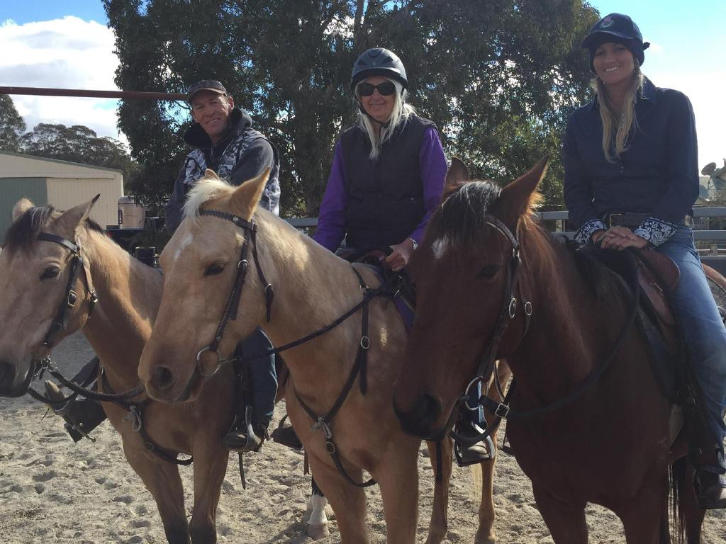 Wran enjoyed horseriding after she was released from prison. Picture: Facebook