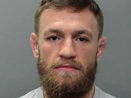 Conor McGregor's mug shot after he was arrested in Miami. (Miami Beach Police Department via AP)