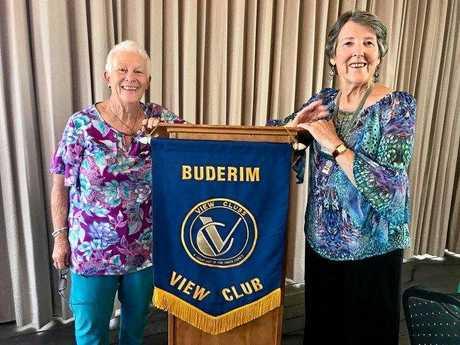 Buderim VIEW club's Carol Bomford and president, Jenny Jackson.