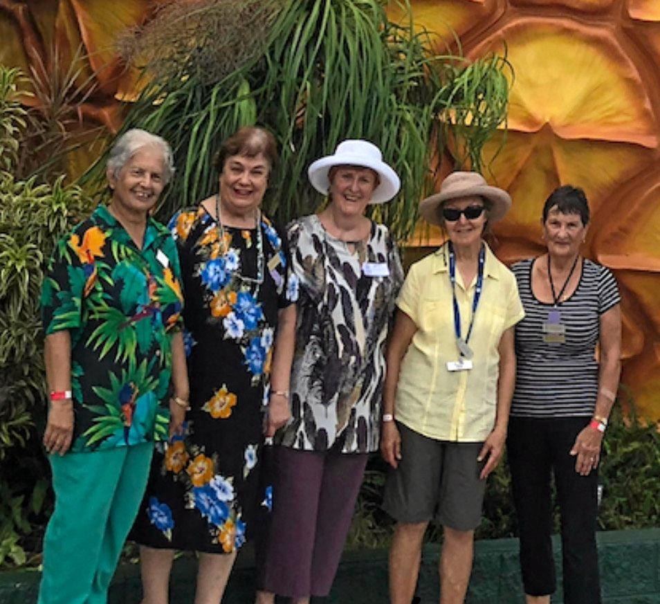 GOING TROPPO: A group of Glasshouse VIEW club ladies at Wildlife HQ at The Big Pineapple last month.