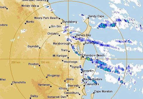 Heavy rain will continue to fall on the Sunshine Coast through to Saturday night before clearing Sunday.