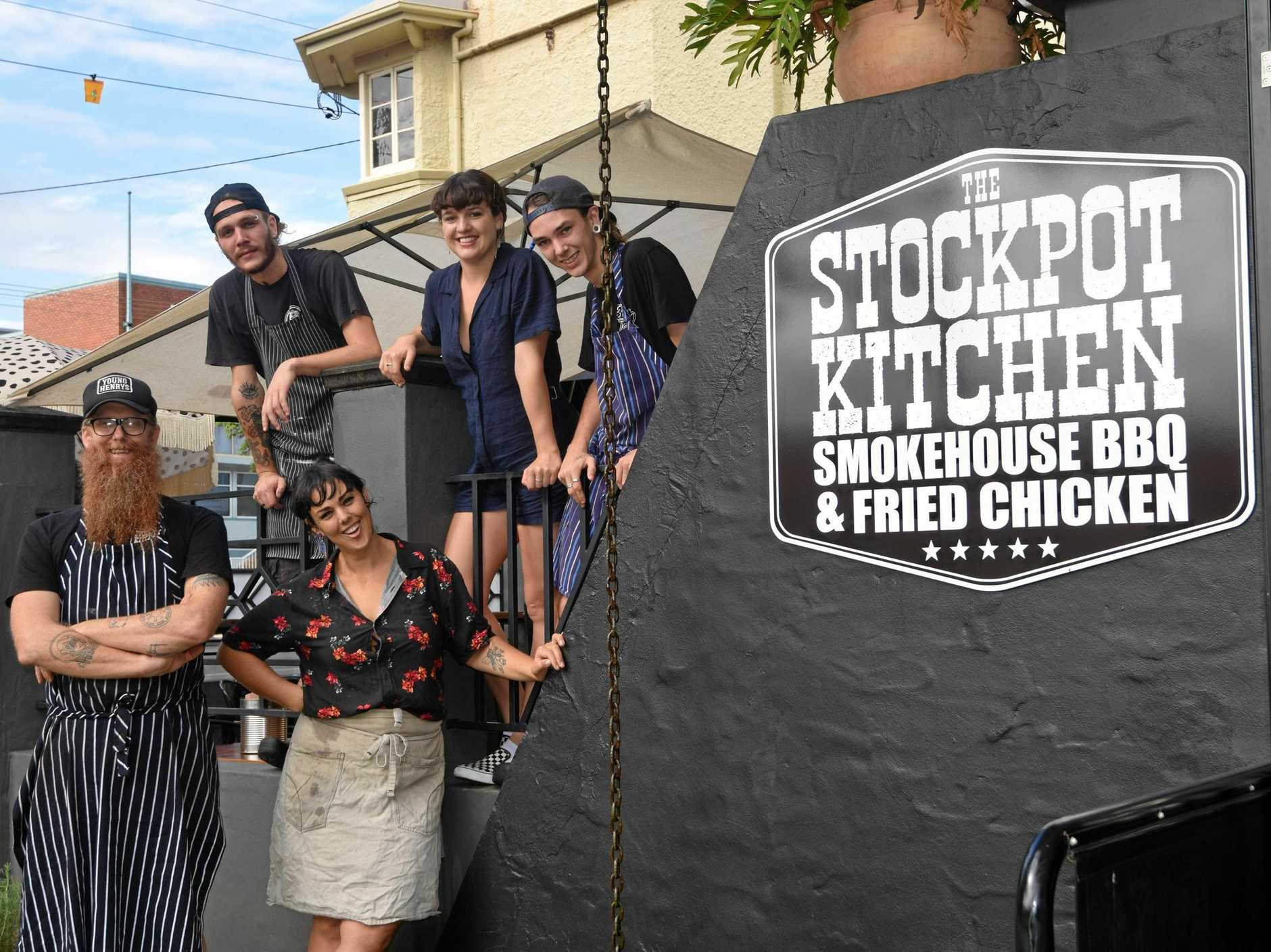 HUGE SUCCESS: The Stockpot Kitchen owners Gray and Jen Stockdale, as well as their team, have plenty to celebrate after an