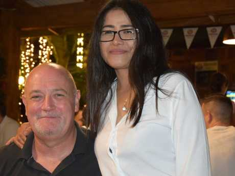 Phil Kent, of Melbourne, with his wife in Phuket.