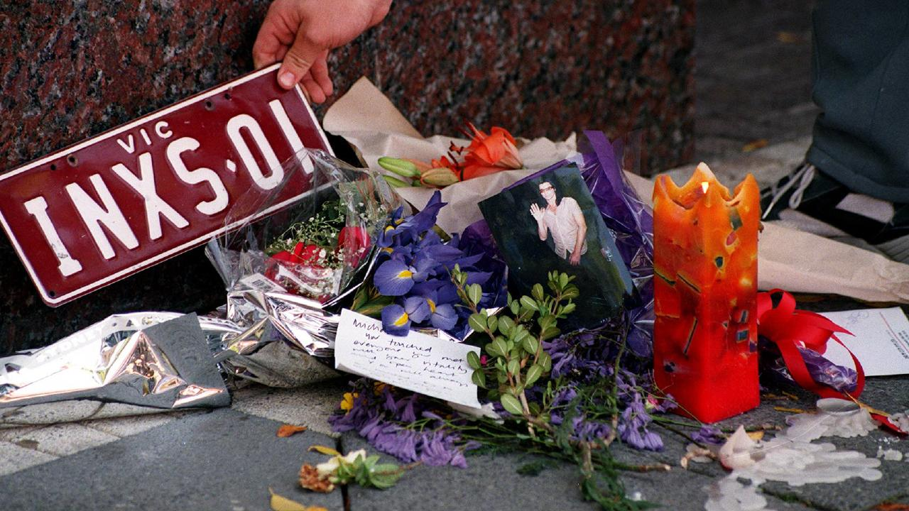 Fans left tributes outside the Ritz-Carlton Hotel as news of the death spread. File picture