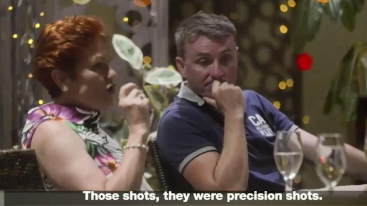 One Nation leader Pauline Hanson filmed insinuating Port Arthur conspiracy theory Credit: AlJazeera